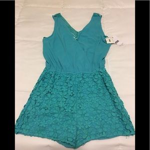 NWT Turquoise Romper